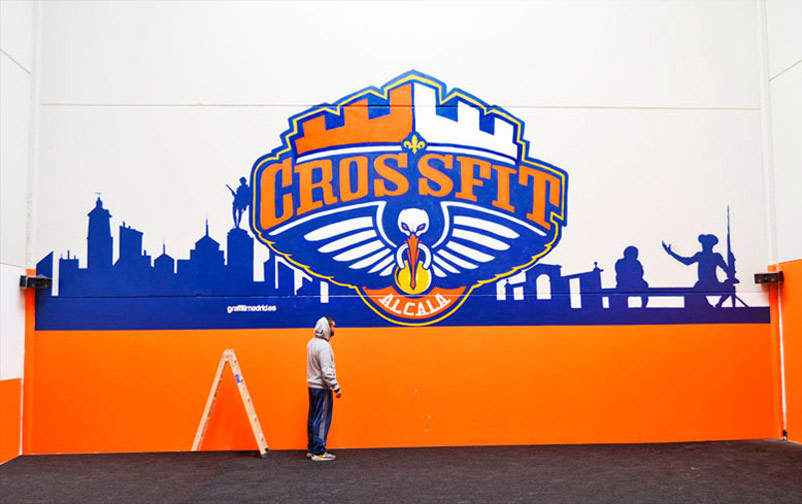 Graffiti gimnasio crossfit - Decoracion de gimnasios ...