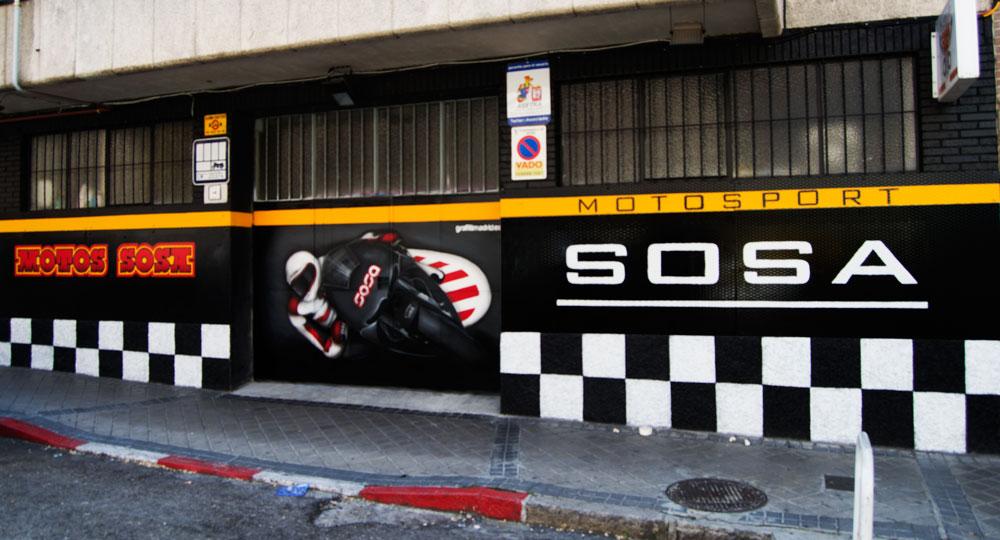 Graffiti madrid decoraci n y dise o para empresas y particulares - Fachadas de talleres ...
