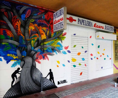 arbol grafiti madrid