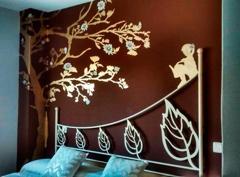 Arboles pintados en la pared buscar con google decoracin - Graffitis para habitaciones ...